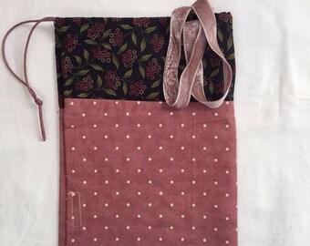 sack bag polka dot rose
