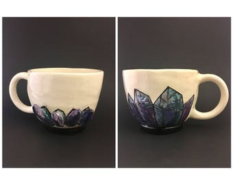 Blue Crystal Tea Cup