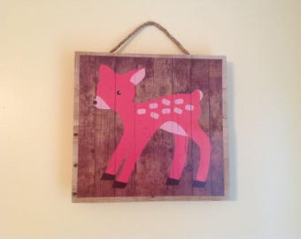 Woodland friends hanging pictures