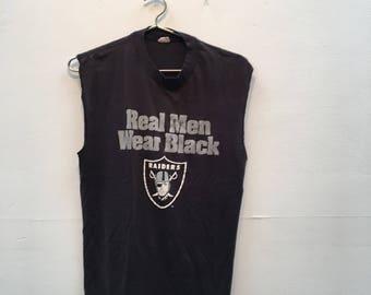 Vintage Raiders Cut off T shirt