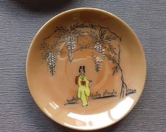 3 tea set cups and saucers Japan