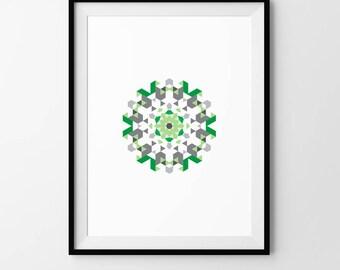 Mandala, Minimalist, Scandi, Geometric, Pattern, Digital Download, Art, Print, Poster, Modern, Contemporary, Circle, Circular