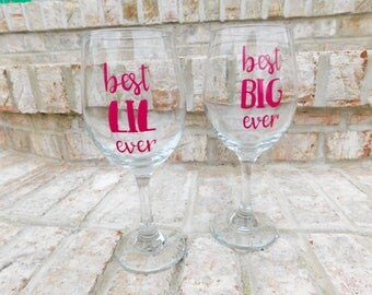 Sorority Big and Little: wineglasses, room bomb, rush
