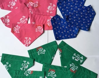 Handmade Dog Bandana Over collar Pirates & Ships Small Medium