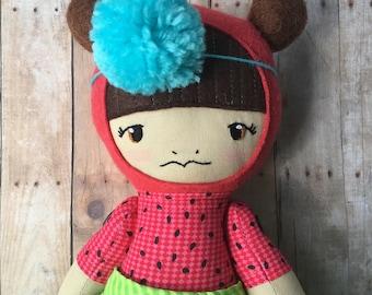 """SALE Ruby - 16"""" Heirloom Dolls - Cloth Rag Dolls"""