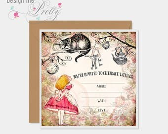 Alice In Wonderland Party Invitations