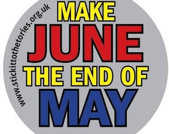 120x45mm stickers - Make June the end of May.