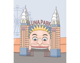 Australian Luna Park print