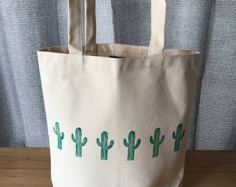 Saguaro Market Tote Bag