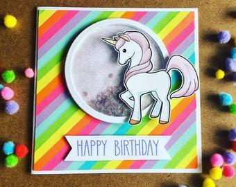 Unicorn Birthday card - Unicorn love!