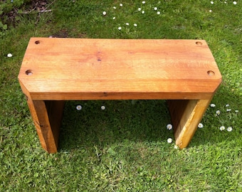Solid green oak bench | handmade in Hereford