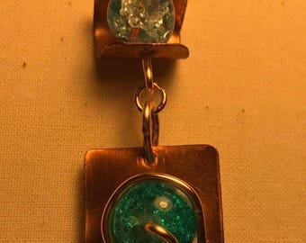 Copper Pendant feat. Azure Quartz