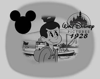 Disney 1928 black and white style! Custom drawing. Custom portrait. Couple portrait. Family portrait. Custom image. Pet. Cartoon Art