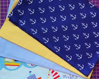 Cotton fabric,sea fabric,ocean fabric,nautical fabrics,boats print,anchors fabric,striped fabric,summer fabric,baby fabrics,fabrics cut