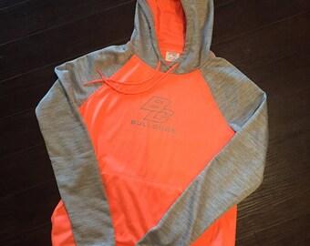 WOMENS bright peachy orange hoodie