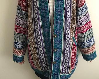 Oversized Hmong Jacket - Reversible