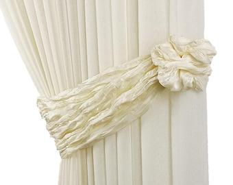 2pcs, Curtain tiebacks, Drapery tiebecks, Soft tiebacks, Fabrics tie backs, Tie backs, Curtain decor, Light tiebacks, Curtain home decor