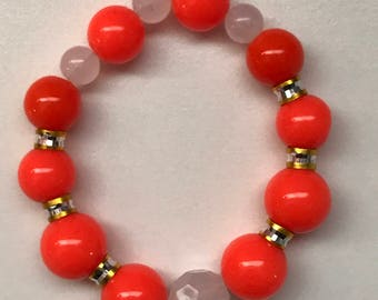 Orange & Gold Bold Bracelet