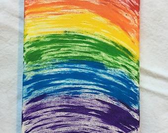 Rainbow Acrylic Toothbrush Painting