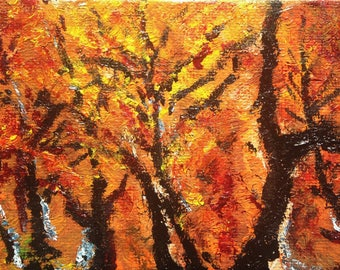 Fall Delight, Original Oil Painting