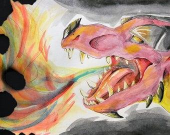 Dragon Watercolor