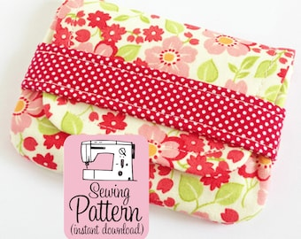 Card Wallets PDF Sewing Pattern | Downloadable Sewing Pattern in PDF Format to make Wallet Coin Purse Gift Card Pouch