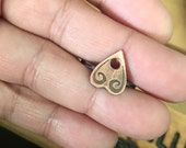 Tiny Etched Planchette Ring in Copper for matthewdelarosa1