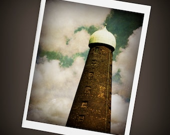 Guinness Brewery Tower Single Blank Greeting Card, Ireland, Dublin, St. Patrick's Day, Mini Art, Size A2