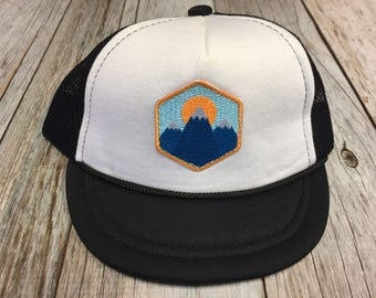 Unisex Infant Trucker Hat with Mountain Peak Patch 0-6 Months