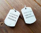 Cremation Dog Tag Style Urn Custom Personalized Charm Memorial Pet Jewelry Cremation Jewelry In Memory Mommy of an Angel Always by My Side