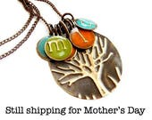 Mothers Day|Gift|Personalized Gifts For Mom|Gift For|Her|Initial Monogram Family Tree Necklace|Mother Family Necklace|Necklace Mother's Day