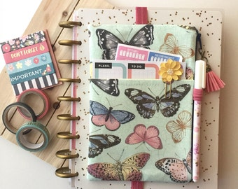 Zipper pouch - pen pouch - planner cover - planner pouch - butterflies planner cover - pocket planner pouch - planner accessories