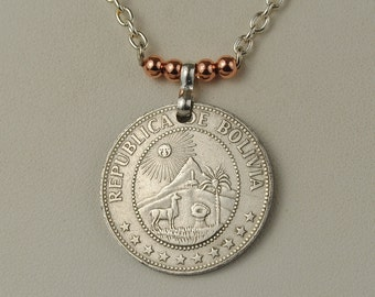 Bolivia Coin Jewelry Necklace