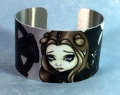 Doomed from the Start metal cuff bracelet from Jasmine Becket-Griffith Art grave cemetery graveyard burial mourning angel fairy