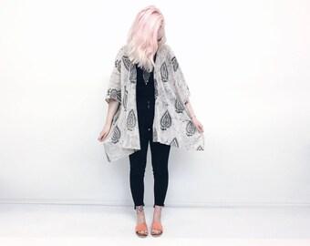 Kimono tie dye batik festival clothing beach cover up beachwear block print cotton boho hippie jacket kaftan summer