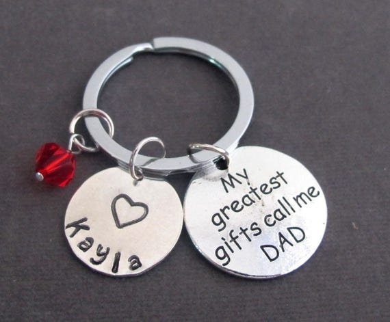Personalized Dad Keychain,Dad Jewelry,My Greatest Gifts Call Me Dad,Gift for Father,Father's Day Gift,Father's Keyring, Free Shipping In USA