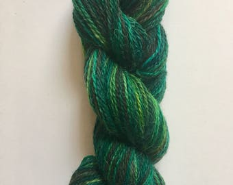 Hand Dyed Fingering Weight Yarn, Moss