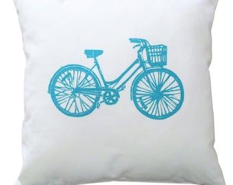 NEW 14x14 Blue Bike pillow
