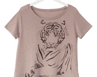 Tiger Print Flowy Shirt