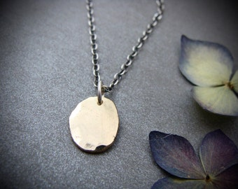 golden pebble … 14k recycled gold pendant