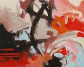 Giclee Print of Abstract Painting Abstract Art Contemporary Art Abstract Expressionist Modern Art Made To Order Red Fine Art Print Monfort