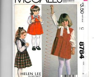 McCall's Girls' Jumper, Vest and Blouse  Pattern 8784