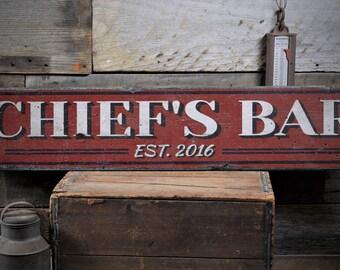 Custom Bar Sign, Custom Pub Sign, Custom Tavern Sign, Home Bar Sign, Wooden Bar Sign, Bar Decor -Rustic Hand Made Distressed Wood ENS1000866