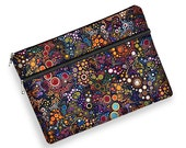 laptop case 13 inch, laptop sleeve 13, macbook pro case, laptop bag women, Surface Book, Dell, Asus, HP, zipper pocket, colorful bubbles MTO