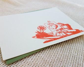 Letterpress Enclosure Card - Gardening