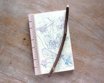 Journal Sketchbook 1960 Vintage Readers Digest - Pink Butterflies
