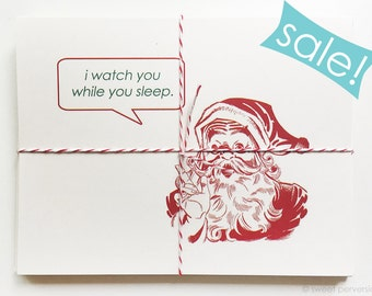 SALE. Holiday Cards. Christmas Cards. Set Of 6. On Sale. Creepy Bastard.