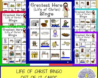 Life of Christ (Greatest Hero) Bingo Game Set of 12