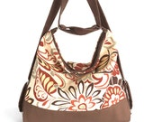 Convertible purse,Floral hobo bag,Convertilbe backpack, Women shoulder bag,Teens hobo purse, Vegan shoulder purse,Women backpack,Shop Canada