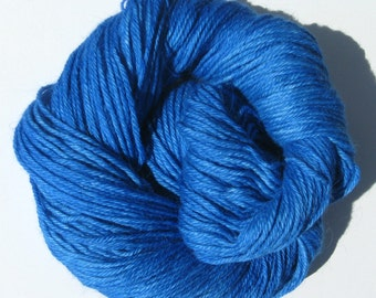 Blue Hand dyed Baby Alpaca Yarn, Sport Weight, 3 ply, FREE Shipping